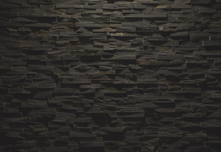 Black stone wall texture Stock Photo