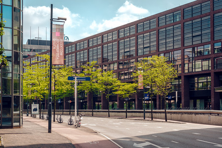 eindhoven: Eindhoven, Netherlands- May 24, 2015: Day view of a Eindhoven empty road in springtime