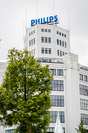 eindhoven: Eindhoven, Netherlands- May 24, 2015: The Philips Light Tower in Eindhoven, originally a light bulb factory and later the company headquarters Editorial