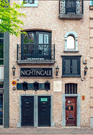 closed club: Eindhoven, Netherlands: May 25, 2015: Exterior of a gays and lesbians nightclub in Eindhoven. Netherlands is a capital for gays, there are plenty of gay establishments in the city.