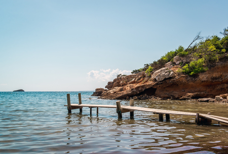 naturism: Nudist beach. Ibiza. Balearic Islands, Spain Stock Photo