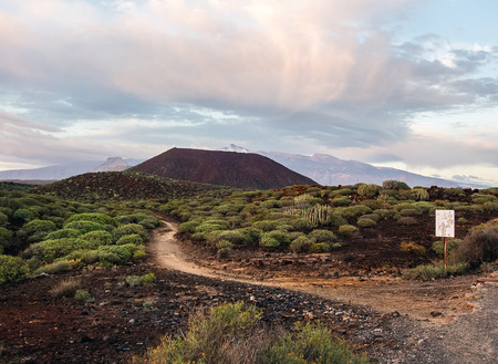 stratovolcano: Picturesque view to the Teide volcano. Tenerife, Canary Islands. Spain Stock Photo