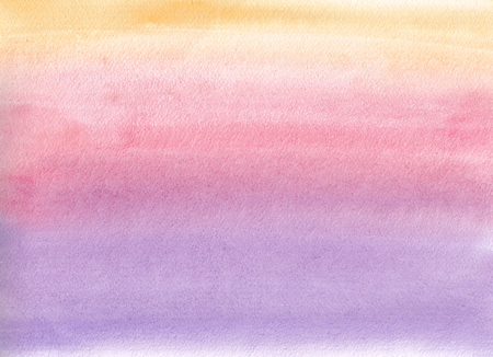 Watercolor gradient. Orange, pink and purple colors
