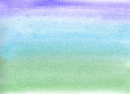 Watercolor painting. Blue and green gradient