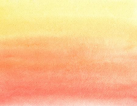 La peinture à l'aquarelle. Jaune, orange et dégradé rouge Banque d'images - 48488323