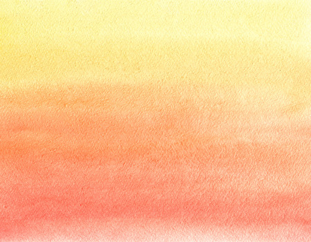 Schilderen van de waterverf. Geel, oranje en rood kleurverloop Stockfoto