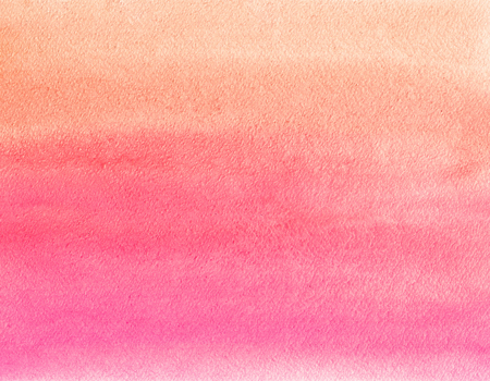 Watercolor painting. Orange and pink gradient 스톡 콘텐츠