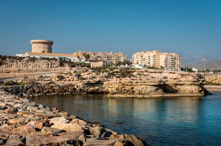 coastal: El Campello bay, is a coastal town on the Costa Blanca, Alicante. Valencia, Spain