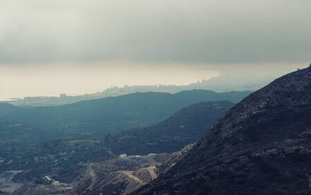 costa blanca: Mountain ranges in Alicante. Costa Blanca, Valencia. Spain