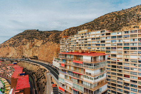 costa blanca: Typical highrise house of Alicante city. Costa Blanca. Spain