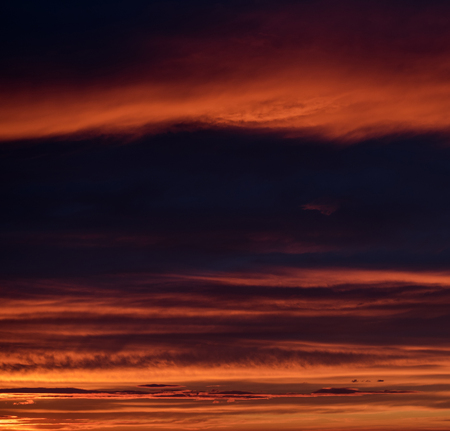sunset sky: Beautiful bright sunset. Cloudy sky