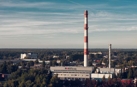 power plant: Riga, Latvia- October 3, 2015: Power plant in Riga. Latvia