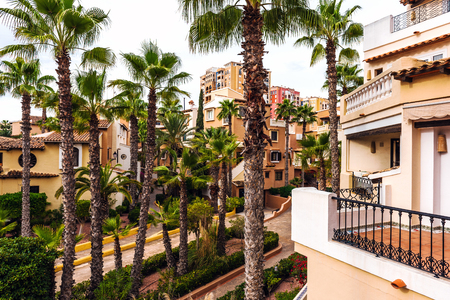 spanish houses: Typical spanish residential houses. Alicante province, Spain