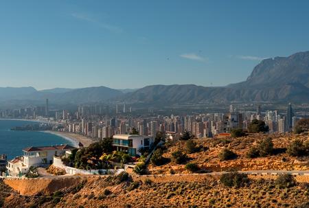 coastal city: Benidorm cityscape. Benidorm is a coastal City in Alicante, Costa Blanca. Spain