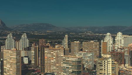 coastal city: Modern skyscrapers of Benidorm. Benidorm is a coastal city in Alicante, Costa Blanca. Spain Stock Photo