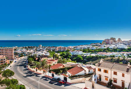 View to the Torrevieja coastal city. Costa Blanca, province of Alicante. Spain