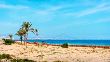 costa blanca: Los Arenales del Sol beach. Alicante province, Costa Blanca. Spain Stock Photo