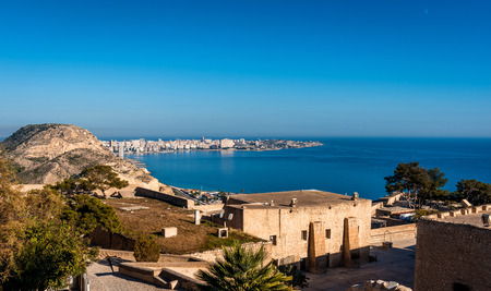 santa barbara: Alicante coastline, view from the Castle of Santa Barbara. Alicante city, Costa Blanca. Valencia. Spain