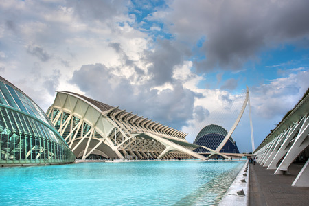 oceanographic: Valencia, Spain - March 14, 2016: The City of Arts and Sciences, entertainment-based cultural and architectural complex in the city of Valencia, Spain. It is the most important modern tourist destination in the city of Valencia. Spain