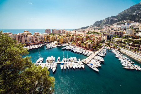 principality: View of Fontvieille. Principality of Monaco Stock Photo