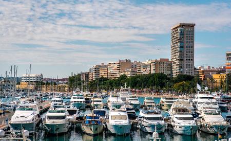 blanca: View of Alicante skyline and seaport. Costa Blanca, Spain