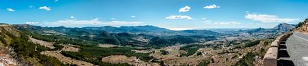 blanca: Panorama of mountain range in Alicante. Costa Blanca, Valencia. Spain Stock Photo