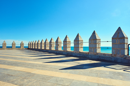 Roof of a Peniscola castle, the highest point of the city. Costa del Azahar, Spain Editorial