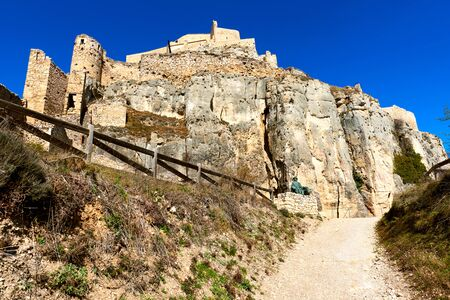 declared: Castle of Morella, province of Castellon, Valencian Community, Spain. Morella Castle was declared a monument of artistic and historical importance.
