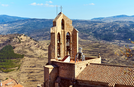 monument historical monument: Chapel of Morella. Morella is an ancient city located on a hill-top in the province of Castellon, Valencian Community, Spain. Morella Castle was declared a monument of artistic and historical importance.