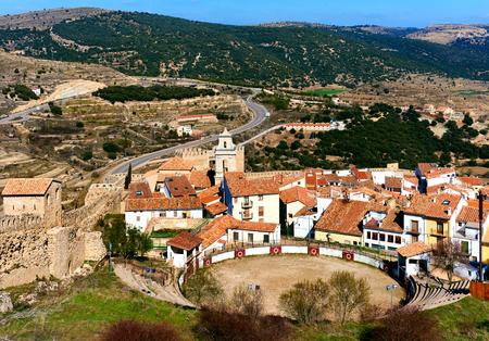 corrida de toros: Plaza de toros de Morella. Provincia de Castellón, Comunidad Valenciana, España.