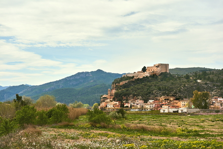 Miravet villagein Spain. Province of Tarragona. Miravet is one of the most charming village in Catalonia