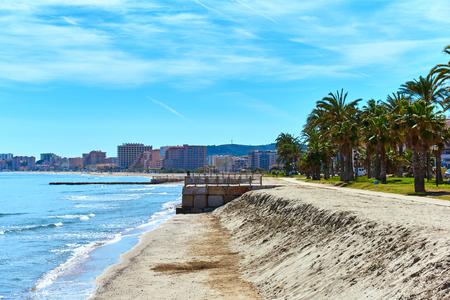 mar: Oropesa del Mar beach. Spain