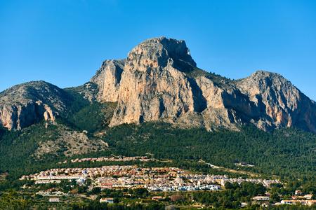 Picturesque spanish hillside village Polop de la Marina. Province of Alicante, Costa Blanca. Spain