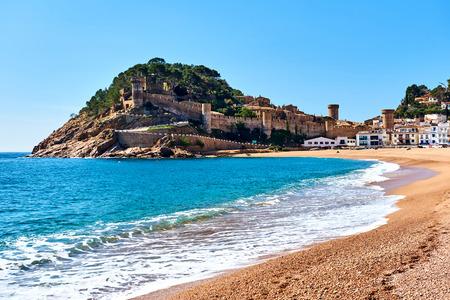 Vila Vella, the oldest part of the town of Tossa del Mar, Costa Brava, Catalonia, Spain Stock Photo