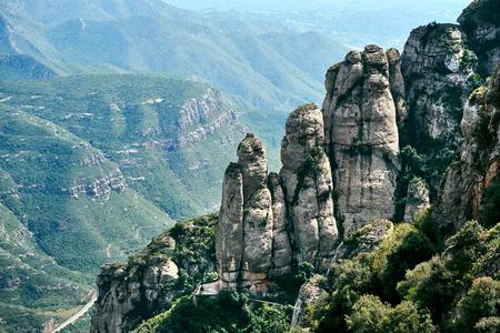 Spectacular Montserrat mountains. Spain Stock Photo