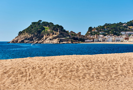 Vila Vella, the oldest part of the town of Tossa del Mar, Costa Brava, Catalonia, Spain Stock Photo