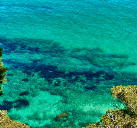 turquoise water: Lagoon with a turquoise water. Costa Brava, Catalonia, Spain