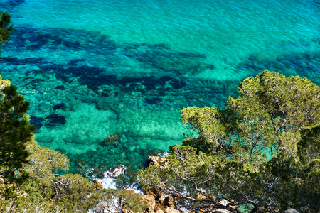 Lagoon with a turquoise water. Costa Brava, Catalonia, Spain