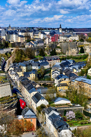 western europe: Luxembourg cityscape. Western Europe