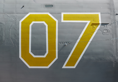 onboard: Onboard number of an old military airplane