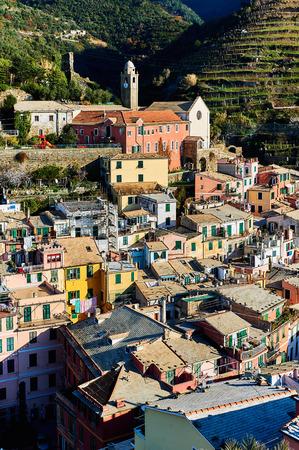 italian architecture: Ancient architecture of Vernazza. Vernazza is a small coastal village in the Italian region of Liguria, Cinque Terre. Province of La Spezia. UNESCO World Heritage List. Italy