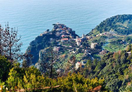 spezia: View of Riomaggiore. Riomaggiore is one of five famous coastline villages in the Cinque Terre, region of Liguria. UNESCO World Heritage List. Italy