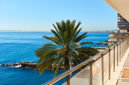 blanca: Albufereta at sunny winter day. Costa Blanca, Alicante. Spain