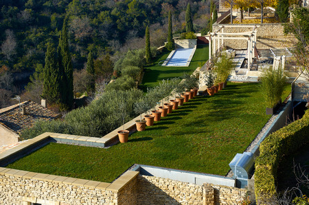 Well-groomed yard in Provence. France