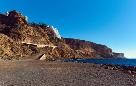 rocky coastline: Rocky coastline of Almeria. Southern Spain
