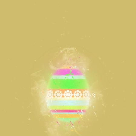 pascha: Easter egg on a beige background. Digital art Stock Photo