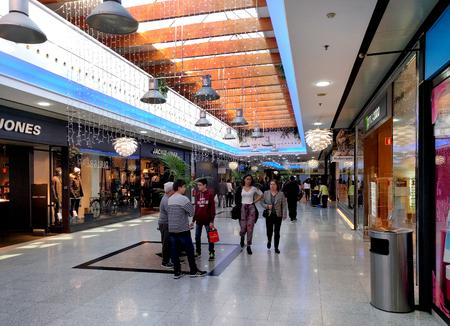 mediterraneo: Almeria, Spain - December 27, 2016: Inside of Mediterraneo shopping centre during winter holidays. Spain Editorial
