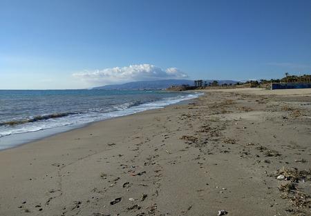 ridge of wave: Coastline at Retamar. Province of Almeria. Spain