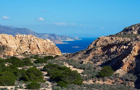 Rocky coastline of Cabo de Gata-Nijar Natural Park, south-eastern corner of Spain