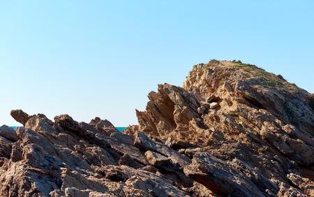 cartagena: Rocky coast of Cartagena. Murcia. Spain